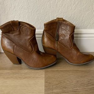 Tan ankle boots 9.5